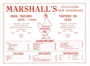 marshall menu